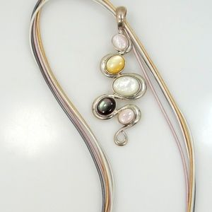 Carolyn Pollack Sterling & Gemstones Necklace